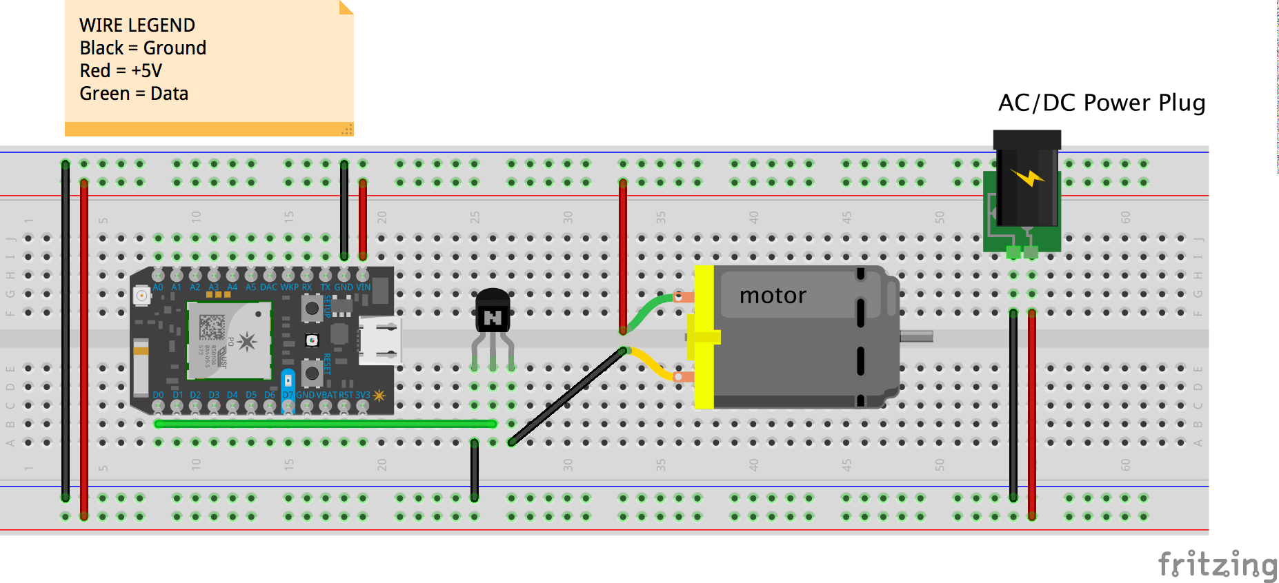 Diy Led Bubble Tube Part 5motor Control Morphatic Dc Power Plug Wiring Diagram Breadboard For Motor